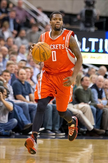 Dec 2 2013 Salt Lake City UT USA Houston Rockets Point Guard Aaron Brooks 0 Dribbles Up The Court During First Half Against Utah Jazz At